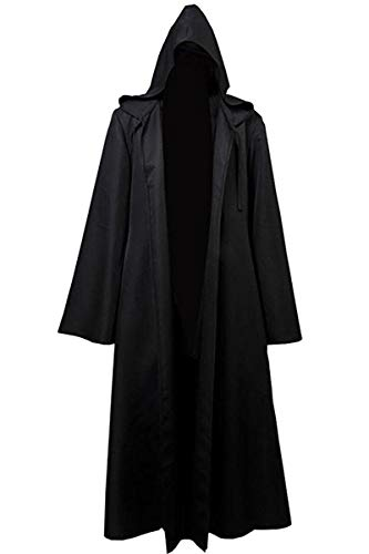 8019 - Jedi Star Wars Wizard Monk Adult Costume Cloak Robe (5) XXL, Black -