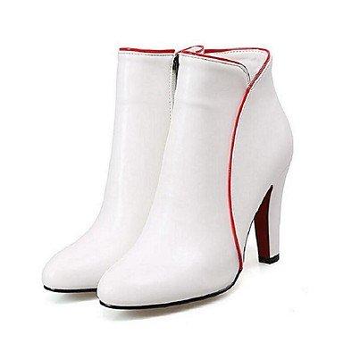 Wsx & Plm Femmes-bottines-casual-autre-a Stiletto-pu (polyuréthane) -black Red White, Us9.5-10 / Eu41 / Uk7.5-8 / Cn42