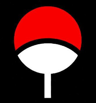 amazon com uchiha symbol red and white decal h 6 by l 8 inches