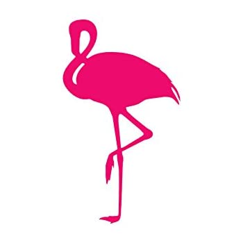 Flamingo bird vinyl decal sticker 3 75 x 6 5