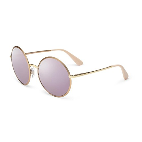 Dolce & Gabbana Women's Metal Woman Non-Polarized Iridium Round Sunglasses, Matte Pink Gold, 56 - Gabbana Dolce Com And