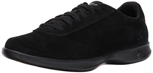 Skechers Performance Women's Go Step Lite-14700 Walking Shoe, Black, 8 M US