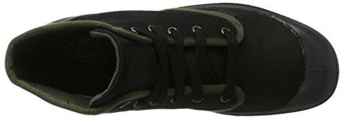 Palladium 2352, Zapatillas Altas de Tela Hombre Negro (Black/Army Green)