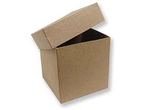 Paper Mache Tall Square Box 4 in. (12 (Paper Mache Square Box)