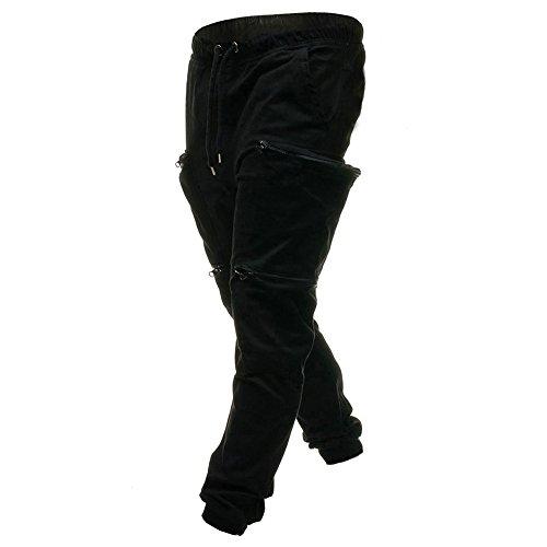 Rayé À Pour Séchage Petits Slim Décontractés Survêtement Noir Amuster De Pieds Hommes Élastique Avec Pantalons q7zE7aw0