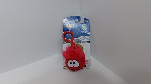 Disney Club Penguin 2 Inch Plush Puffle Clip On Red [Toy] ()