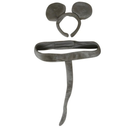 Mouse Tail And Ears Costume (Gray Mouse Headband Ears and Tail Costume Set)