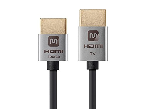Ultra Slim 18Gbps Active High Speed HDMI Cable, 10ft Silver