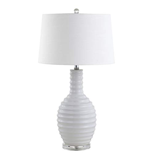JONATHAN Y JYL8020A Dylan 29.5 Ceramic Table Lamp, White