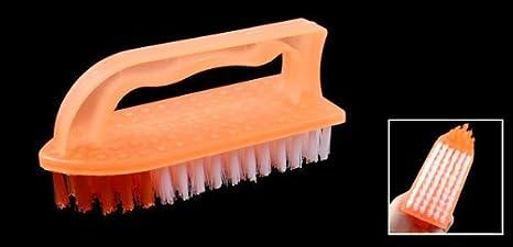 Amazon.com: Apretón de la Mano Naranja Blanco cerdas Cepillo de rascar Para la ropa piso: Health & Personal Care