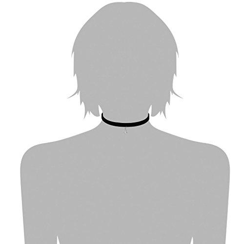 KnSam Ras du Cou Choker Collier Acier Inoxydable Dentelle Gothique Retro Argent Noir [Fille Gothique]