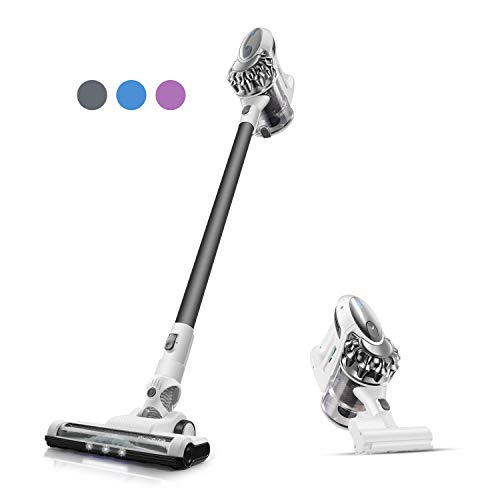 Cordless Vacuum, PUWEIKE Stick Vacuum Cleaner, 20Kpa, 180W Powerful Suction 4 in 1 Wireless Handheld Vacuum Cleaner, Hardwood Floors, Carpets and Pet Hair with Rechargeable Battery, P80 pro Grey
