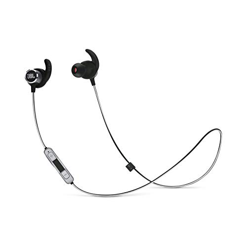 JBL Reflect Mini 2 Wireless in-Ear Sport Headphones with Three-Button Remote and Microphone - Black (Jbl Wireless Microphone)