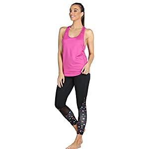 icyzone Activewear Workout Yoga Fitness Sports Racerback Tank Top T-Back Women (S, Rose Violet)