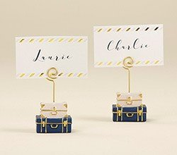 Places Travel (Kate Aspen, Suitcase Place Card Holder, Wedding/Party Decoration (Set of 6))