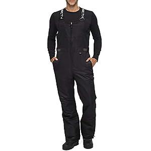 Arctix Men's Avalanche Athletic Fit Insulated Bib Overalls, Black, Small (29-30W * 32L)