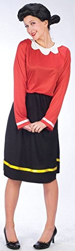 Olive Oyl Costume - Medium/Large - Dress Size (Couples Halloween Costumes Popeye And Olive Oyl)