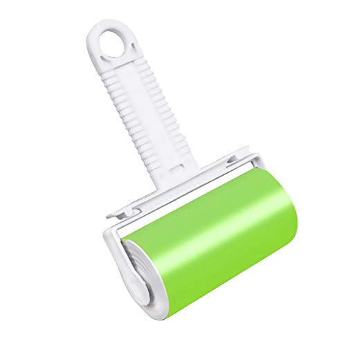 Prettyia Premium Plastic Lint Roller - Pet Hair, Dust Remover - Professional Grade Reusable Adhesive with Durable Handle and Cover - Green