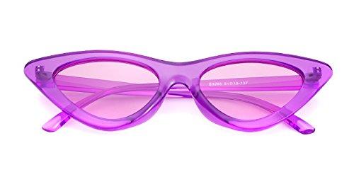 de Púrpura para Lente Kurt Cobain Transparente ojo Gafas de retro niñas gafas de Púrpura 1 de protección vintage Marco estilo Gafas ADEWU sol sol mujeres de gato RzWSwz0q4
