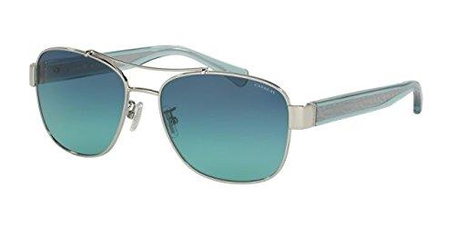 Coach Womens Sunglasses (HC7064) Silver/Blue Metal - Non-Polarized - - Coach Blue Glasses