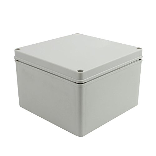 Junction Box Underwater (YXQ 200 x 200 x 130mm Electrical Project Case Junction Box IP65 Waterproof ABS DIY Power Outdoor Enclosure Gray (7.9 x 7.9 x 5.1 inches))