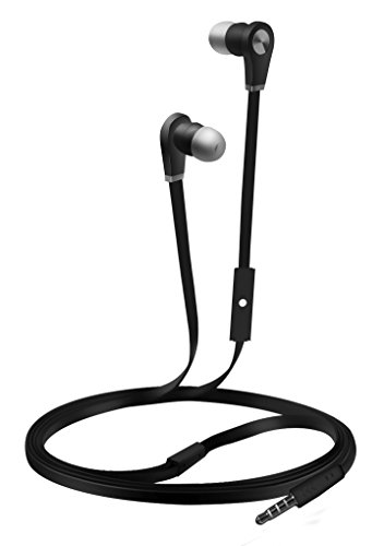 - Coby CVE-103-BLK Tangle Free Stereo Earbuds, Black