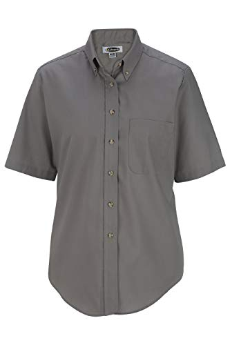 Edwards Ladies' Easy Care Short Sleeve POPLIN Shirt 2XL -