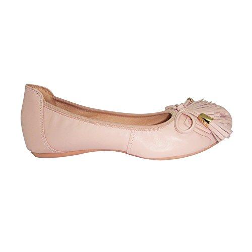 a Flats Molte Adatte piede per misurare Comode Ballerine Donna selezionare Quindi Taglia Ballerine Premere lunghezza l'immagine Durevole la Pelle del sinistra Belle Rosa Occasioni XfzqwYx