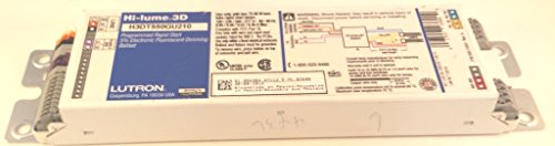 Lutron H3DT550GU210 CFL T5 Dimming Ballast, 2-Lamp, T5 Twin Tube, 120/277V