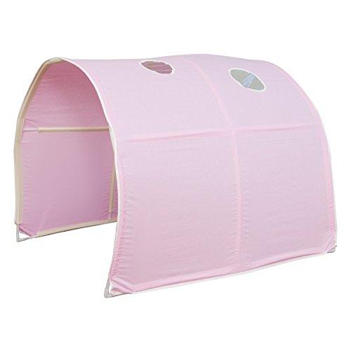 Tunnel pour lit enfant superposé tente accessoires rose 90x70x100cm APE06030 Décoshop26