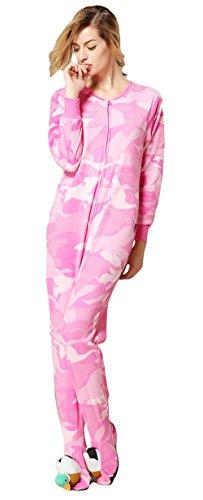 Cow Onesie Costume Party City (Unisex Adult Cute Animal Flannel Pajamas Cosplay Costume Onesie(Pink Stripe, 2XL)
