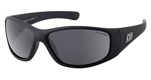 Dirty Dog Wolf Small Fit Satin Black Sunglasses Polarized Lenses 53643