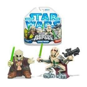 Star Wars Galactic Heroes Clone Wars - Kit Fisto & General Grievous (Wars Wars Clone Star Kit Fisto)