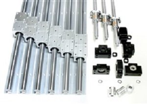1000mm x 1000mm Feet CNC Router Ball Screws Kit 16mm Rails and BallScrews XYZ Travel 37