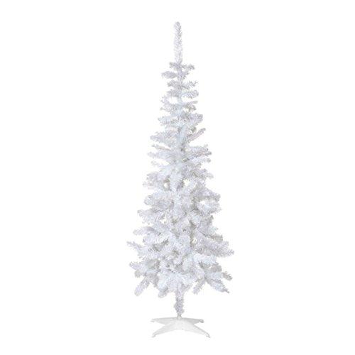 Perfect Holiday Unlit Árbol de Navidad Artificial, 5 pies, Vidrio Blanco