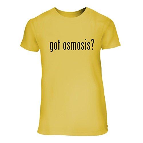 got osmosis? - A Nice Junior Cut Women's Short Sleeve T-Shirt, Yellow, X-Large