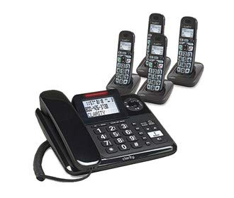 Clarity E814 Moderate Hearing Loss Cordless Phone with E814HS Expandable Handset Bundles (Clarity E814 with 4 E814HS) by Clarity (Image #4)