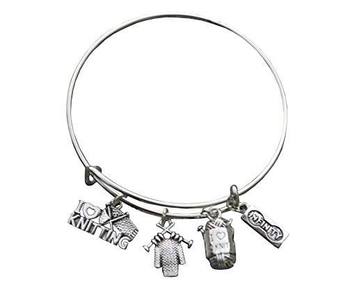 lukuhan Knitting Jewelry- Knitting Gift, Knitting Bracelet, Knitter Gifts, for Quilters Knitters.jpg- Chocolate Lover Gift Bracelets