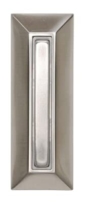 Heath Zenith SL-753-02 Slim-Line Wired Lighted Push Button, Satin Nickel