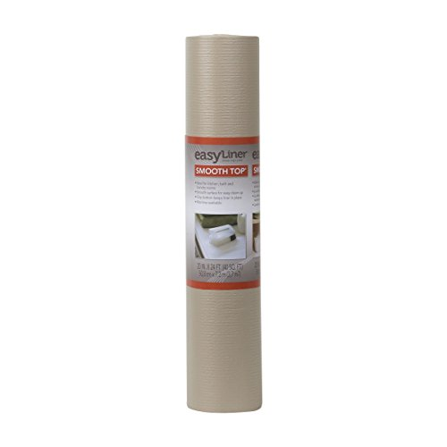 Duck Brand 281873 Smooth Top Easy Liner Non-Adhesive Shelf Liner, 20-Inch x 24-Feet, Taupe (Dark Side Of The Moon White Vinyl Value)