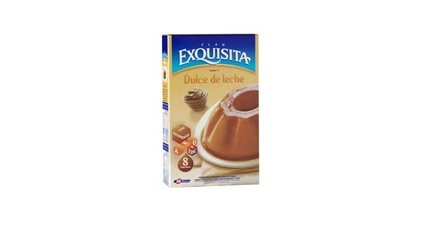 Amazon.com : EXQUISITA FLAN Dulce de Leche Mix 60gr 8 Pack : Grocery & Gourmet Food