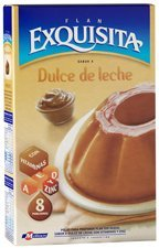 EXQUISITA FLAN Dulce de Leche Mix 60gr 8 Pack