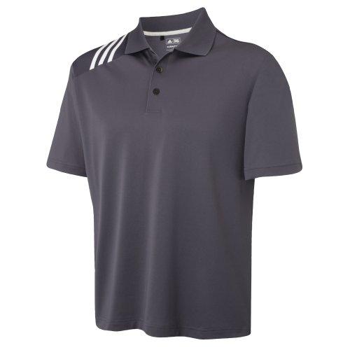 Adidas Golf Climacool Mens 3-Stripe Solid Polo Shirt (L) (Precinct/ White)