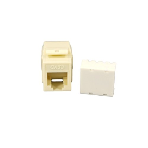 Cooper Wiring Devices 5547-3EA Cat 3 RJ11 Modular Voice Jack Insert, - Cooper Wall Modular Plate