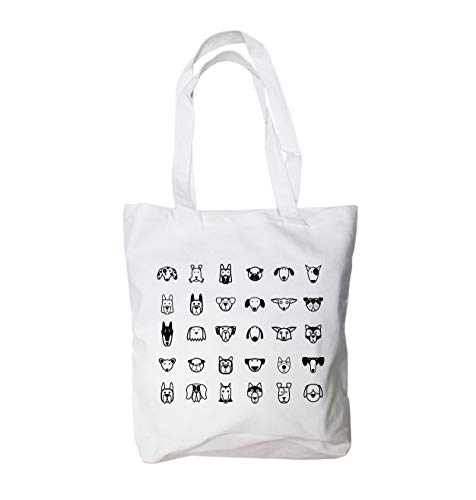 Dog faces Canvas Tote Bag 12 Oz 100% Cotton (15