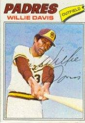 1977 Topps Baseball Card #603 Willie Davis