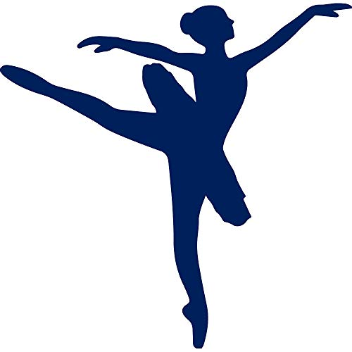 Sun Keyboard 6' (ANGDEST Ballerina Silhouette (Navy Blue) (Set of 2) Premium Waterproof Vinyl Decal Stickers for Laptop Phone Accessory Helmet CAR Window Bumper Mug Tuber Cup Door Wall Decoration)