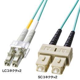 パソコン パソコン周辺機器 ケーブル サンワサプライ OM3光ファイバケーブル HKB-OM3LCSC-05L -ak [簡易パッケージ品] B07D1BGT1R