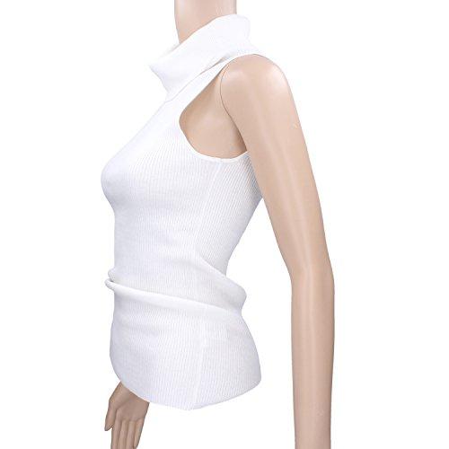ROSSOPURO Rosso Puro Canotta Donna Size 42 Bianco Cotone