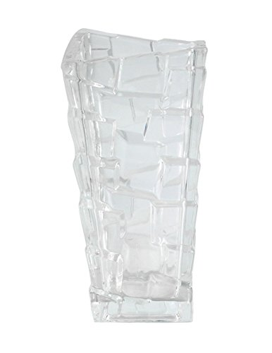 (Dahlia Rock Impressions Glass Vase/Decorative Flower Arrangement for Home, Wedding, Christmas, 12